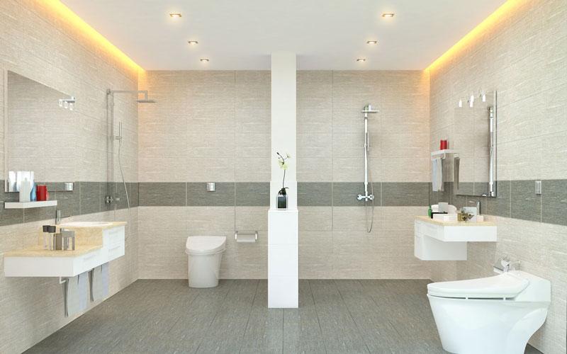 Ốp viền cho nhà tắm giúp tạo điểm nhấn cho căn phòng thêm độc đáo