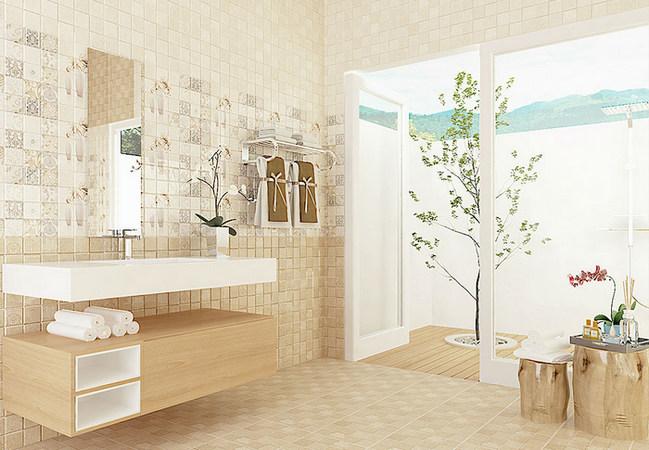 gạch lát nền khu vực phòng tắm