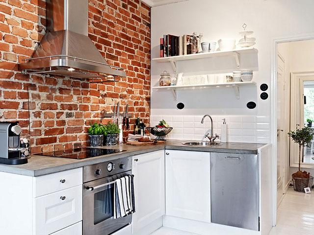 trang trí tường phòng bếp với gạch ốp tường