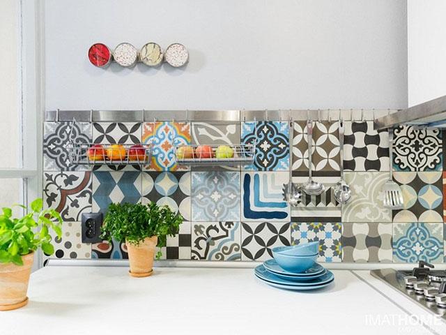 trang trí gạch ốp tường cho nhà bếp