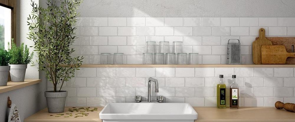 khéo léo lựa chọn gạch ốp tường cho phòng bếp