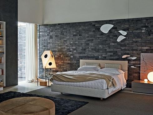 sử dụng gạch ốp tường phòng ngủ