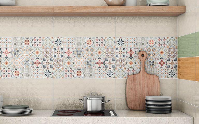 gạch ốp tường bếp bông