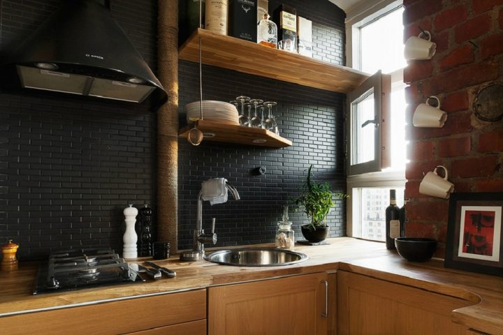 gạch ốp trang trí tường bếp đẹp