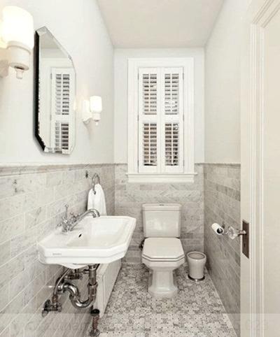 gạch lát nền cho phòng tắm nhỏ