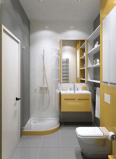 chọn gạch lát nền cho phòng tắm nhỏ