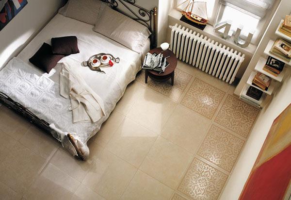 Gạch lát sàn phòng ngủ