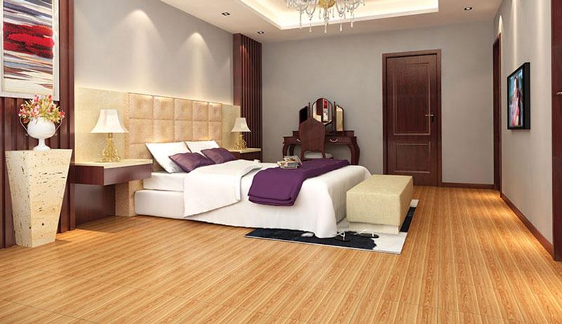 Gạch men lát nền phòng ngủ