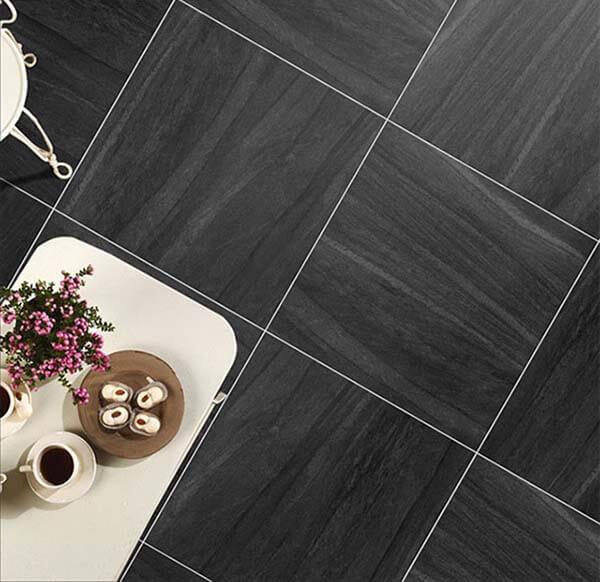 Gạch TKG G68099 với 8 bề mặt gạch trên cùng 1 thiết kế màu đen xám giúp không gian thêm trầm lặng và sâu lắng