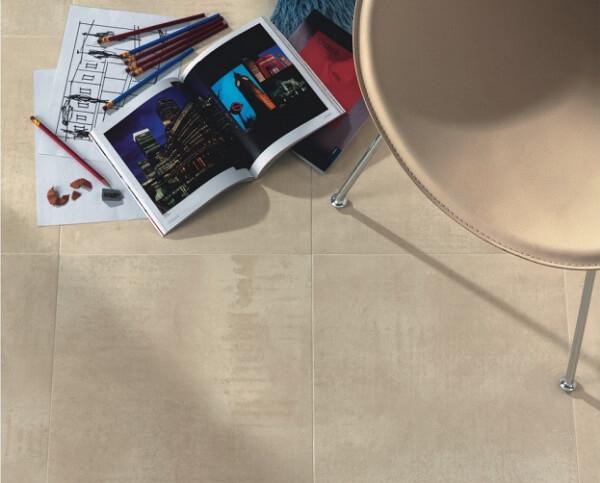 Gạch Keraben P6060 KUBE màu nâu nhạt, men mờ tạo không gian ấm cúng, gần gũi