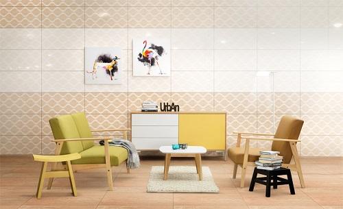 Nguyên tắc phối màu gạch ốp tường phòng khách mát nhãn 3