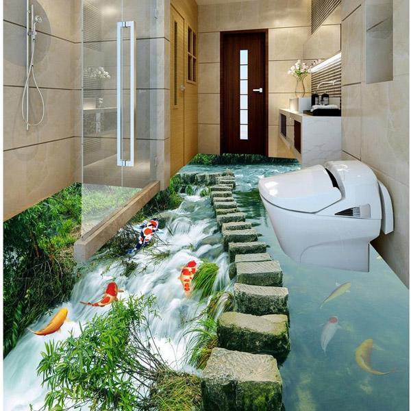 Đặc điểm gạch lát nền nhà tắm 3D? Gạch có giá đắt không?