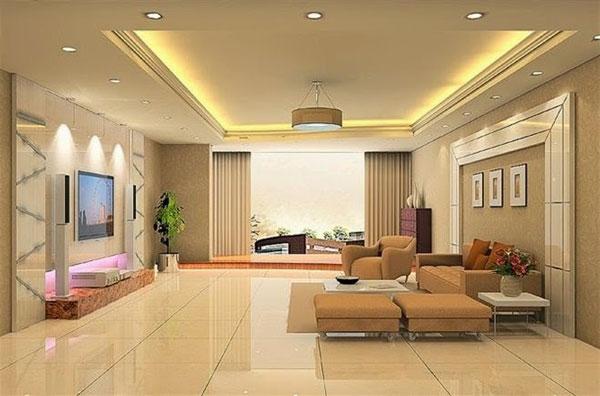 Cách chọn màu gạch phòng khách theo phong thủy 5