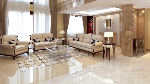 gạch lát nền phòng khách Viglacera 1