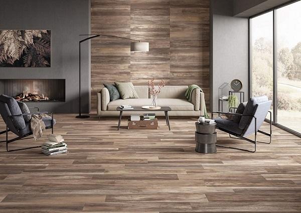 Gạch lát nền giả gỗ 60x60 phòng khách - 04