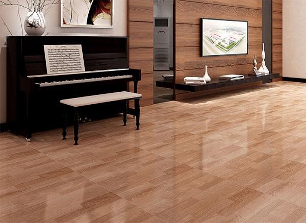 Gạch lát nền giả gỗ 60x60 phòng khách - 02