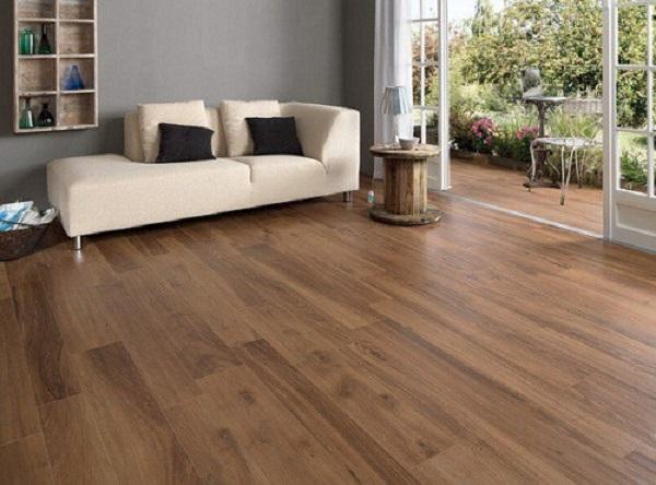 Gạch lát nền giả gỗ 60x60 phòng khách - 01