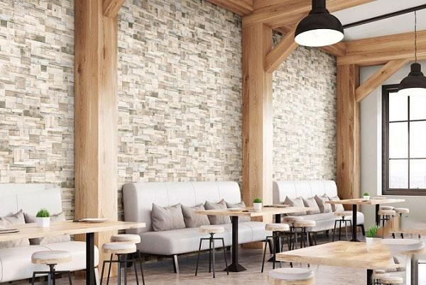 Điểm danh các mẫu gạch ốp tường quán cafe hot hit 2021 2