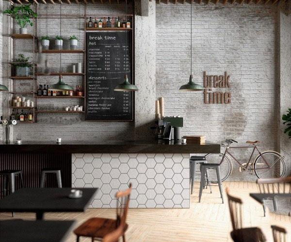 Điểm danh các mẫu gạch ốp tường quán cafe hot hit 2021 3